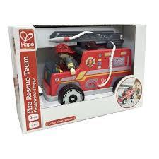 HAPE Camion de pompier en bois
