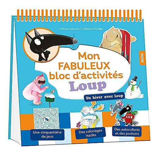 Livre amusant- Mon fabuleux bloc d'activités Loup