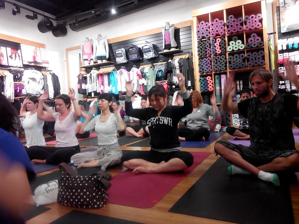 Transformational Yoga with Utkarsh at lulu lemon athletica, Britomart, Auckland