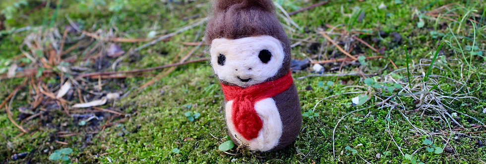 Felted Monkey with Tie