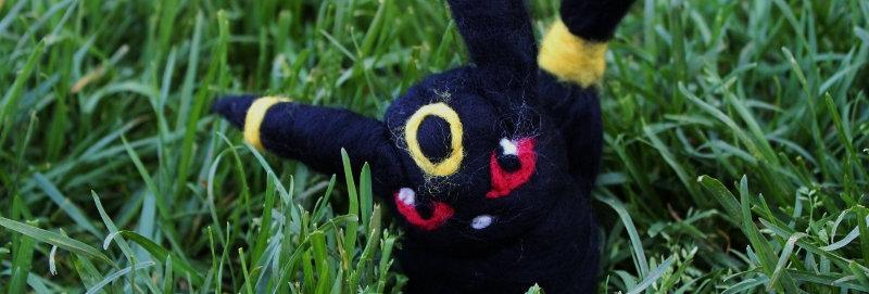 Felted Black Fox Creature