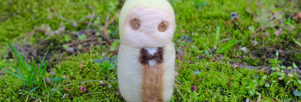 Felted Aziraphale Angel