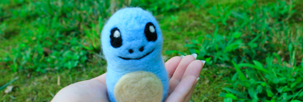 Felted Blue Water Turtle