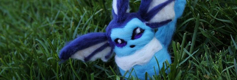Felted Water Fox Creature