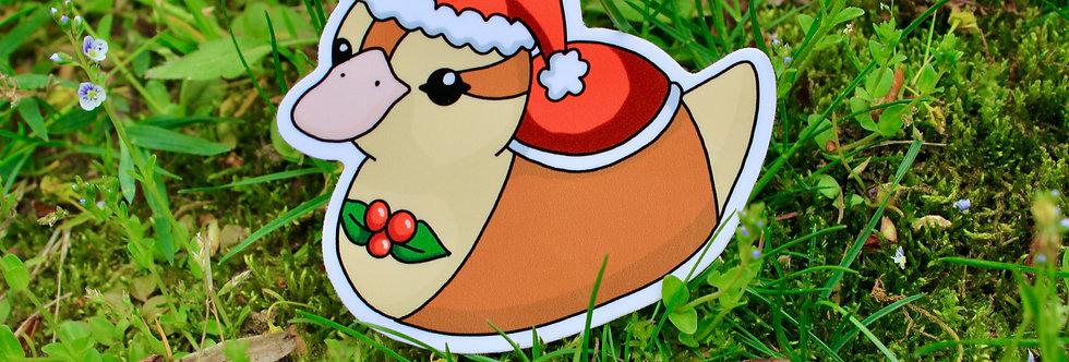 """Santa Baby Turtle Duck 3"""" Vinyl Sticker"""