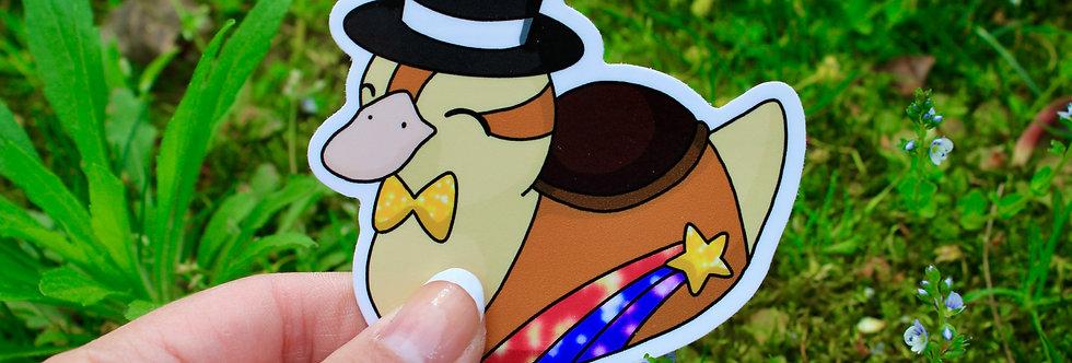 """New Year Baby Turtle Duck 3"""" Vinyl Sticker"""