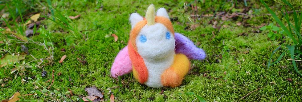 Felted Swift Feather Rainbow Unicorn