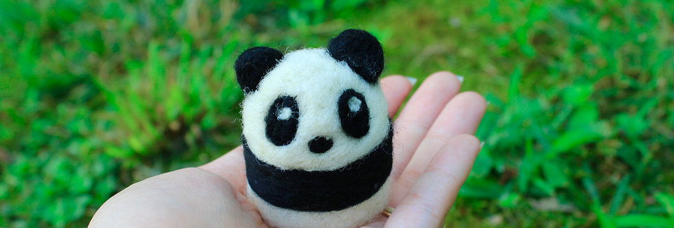 Felted Black and White Panda