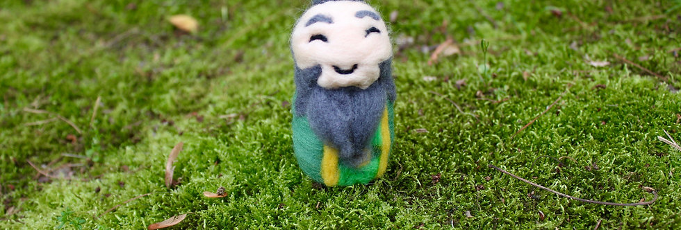 Felted Avatar Tea Loving Uncle