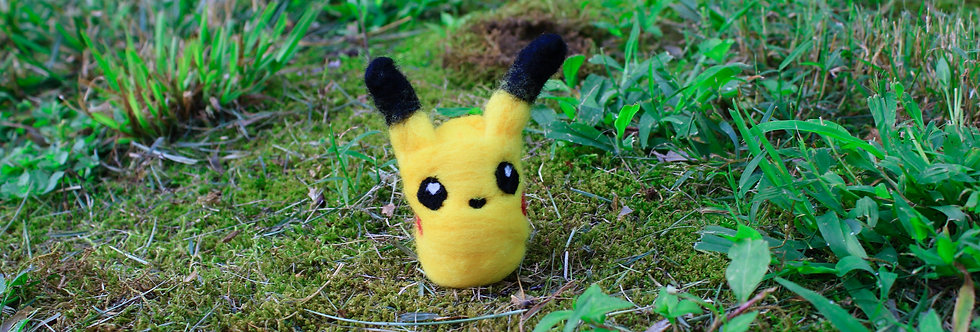 Felted Electric Mouse Creature