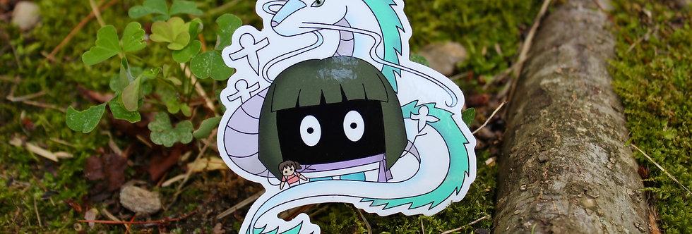 """Soot Sprite Dragon Boy 4"""" Vinyl Sticker"""