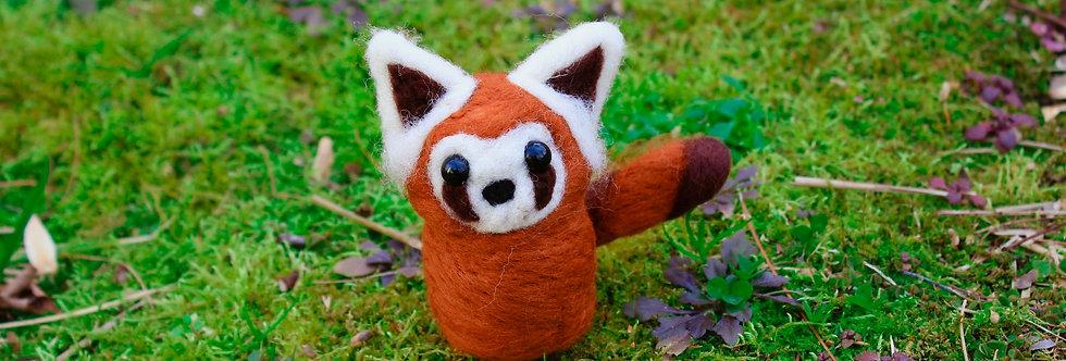 Felted Red Panda Ferret
