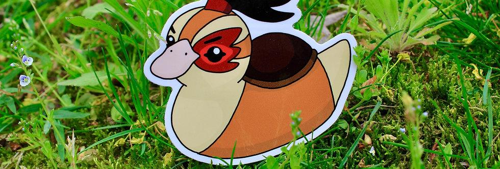 """Fire Baby Turtle Duck 3"""" Vinyl Sticker"""