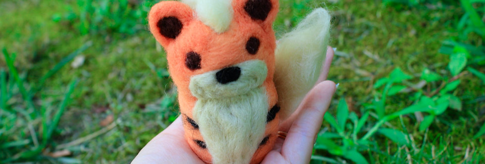 Felted Tiger Creature