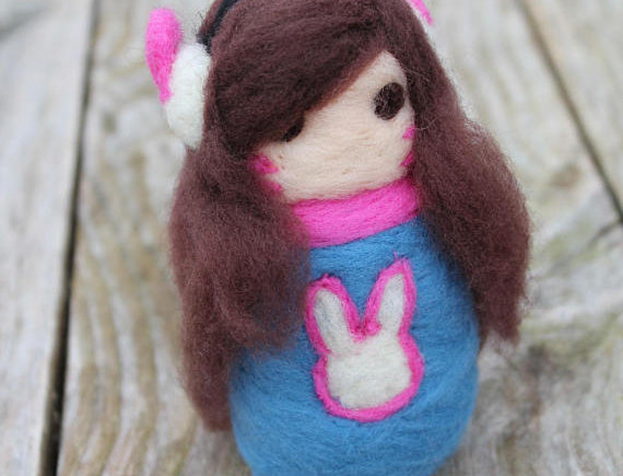 Felted Video Game Girl