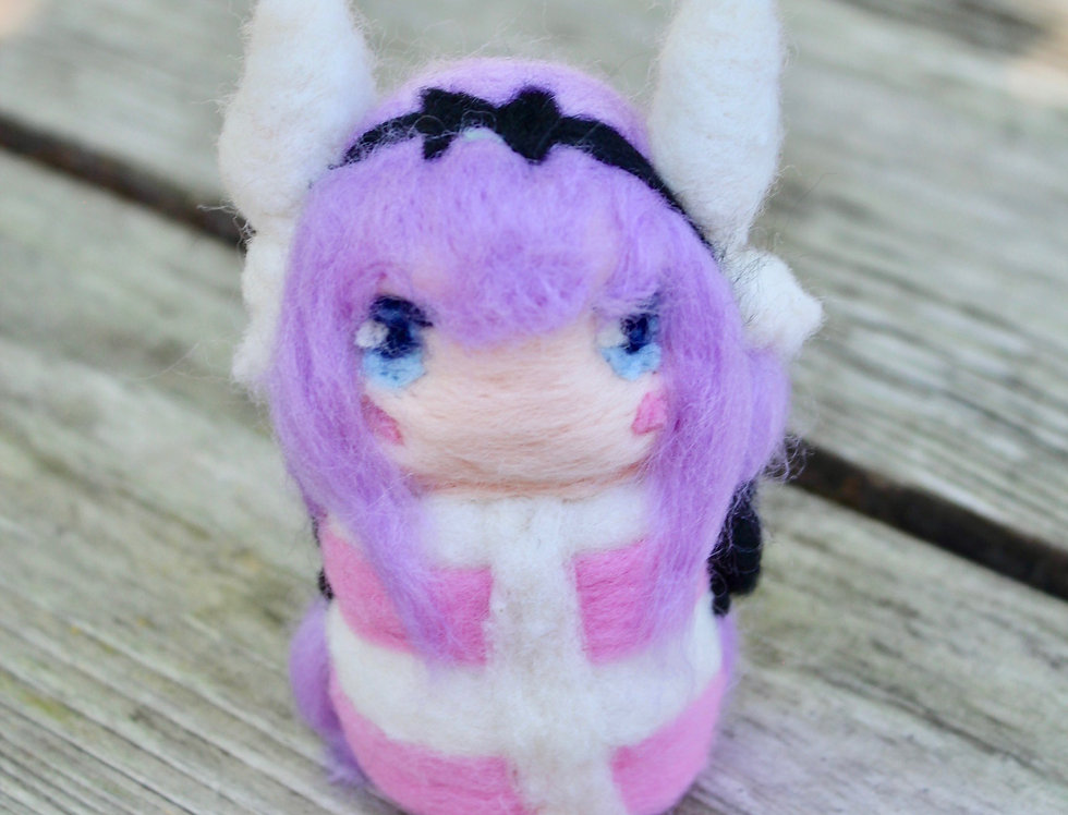 Felted Dragon Maid Pink Girl