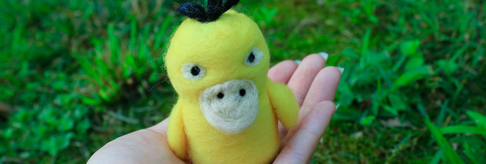 Felted Yellow Duck