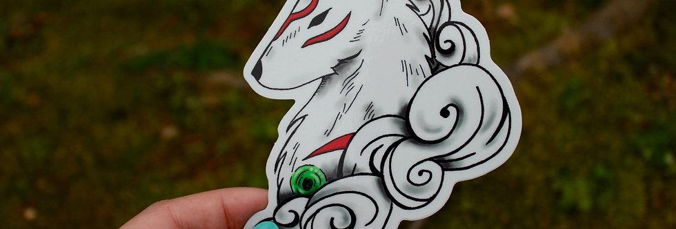 """Spirit Wolf 4"""" Vinyl Sticker"""