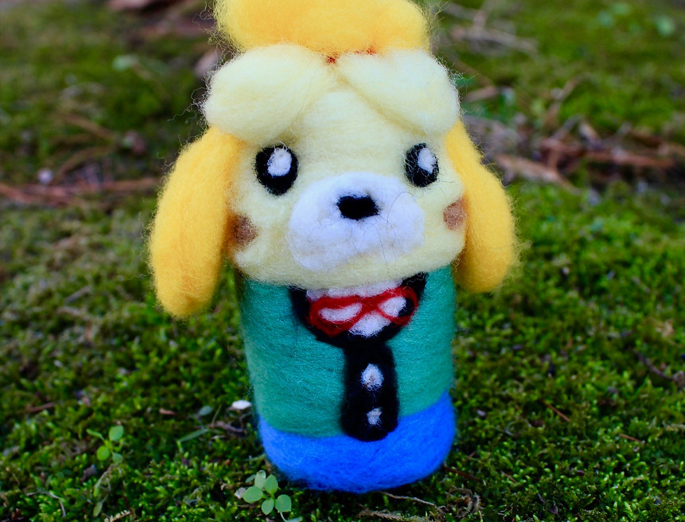 Felted Secretary Dog Villager