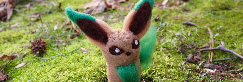 Felted Leaf Fox Creature