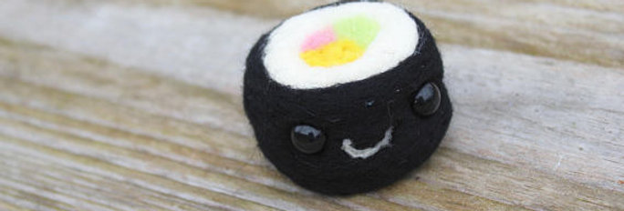 Felted Sushi Roll