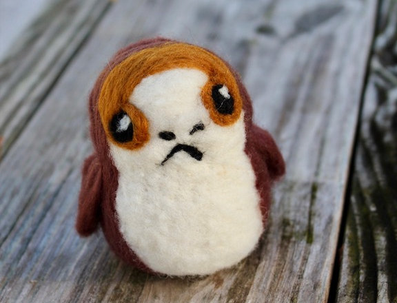 Felted Space Puffin