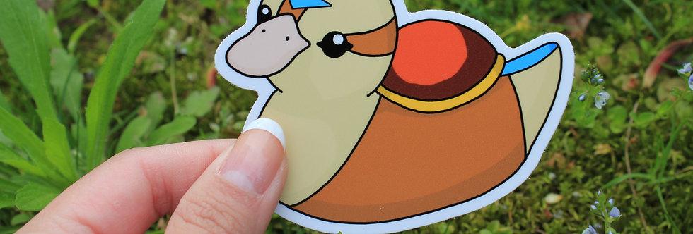"""Air Baby Turtle Duck 3"""" Vinyl Sticker"""