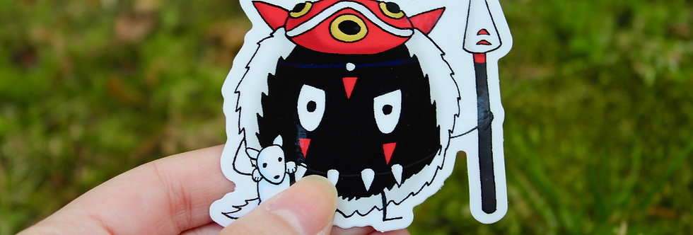 "Soot Sprite Wolf Princess 2.5"" Vinyl Sticker"