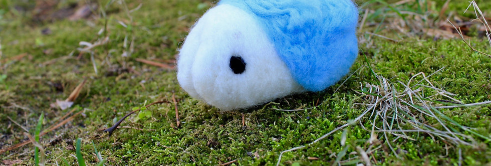 Felted Ice Bug Creature