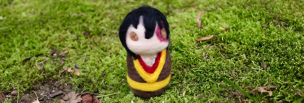 Felted Avatar Angry Fire Boy