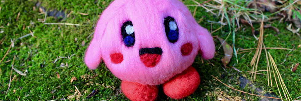 Felted Pink Alien Hero