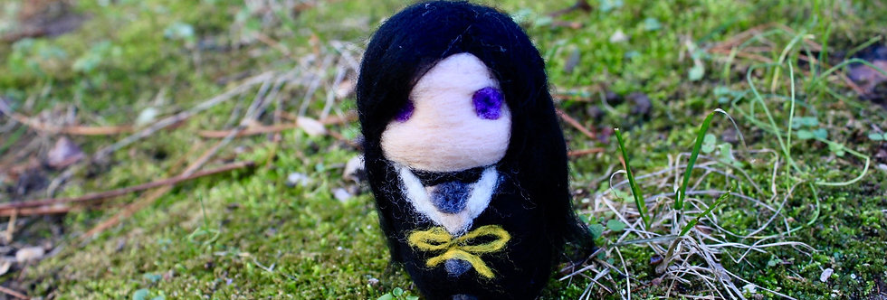 Felted Witchy Dark Sorceress