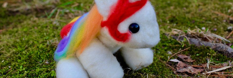 Felted Rainbow Unicorn