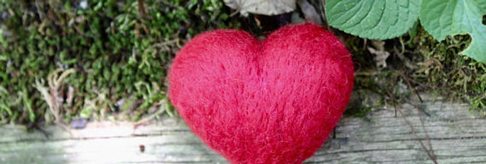 Felted Red Heart