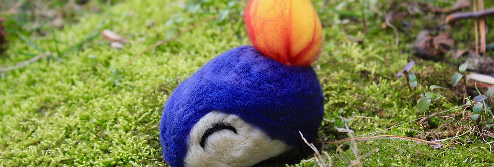 Felted Fire Hedgehog