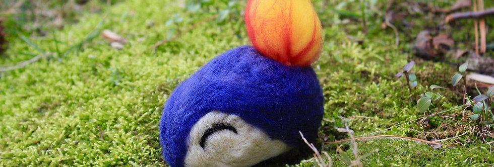 Felted Fire Hedgehog