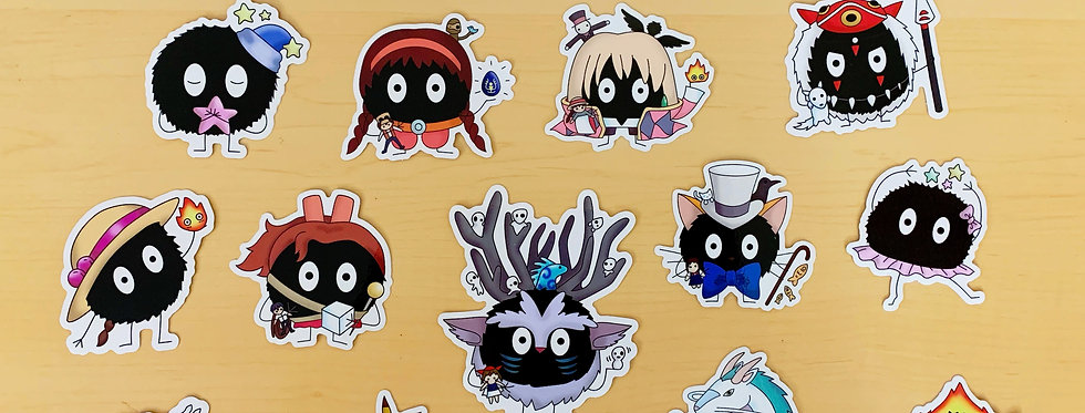 The COMPLETE Soot Sprite Sticker Collection