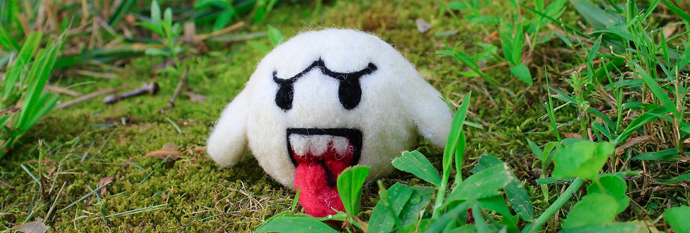 Felted Tongue Sticking Out Ghost