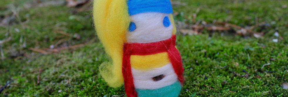 Felted Fantasy Blonde Girl