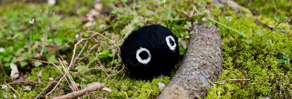 Felted Soot Sprite