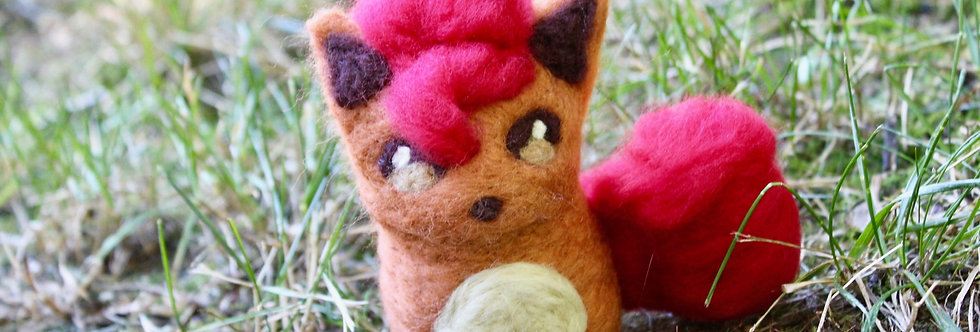 Felted Red Fire Fox