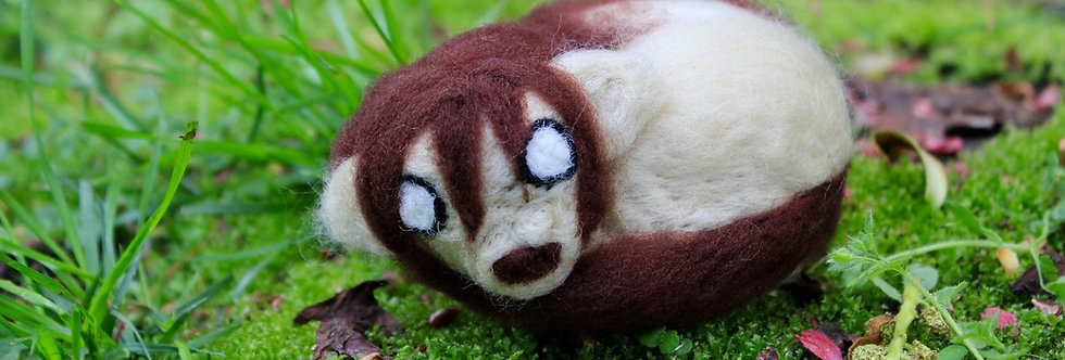 Felted Chimera Sculpture