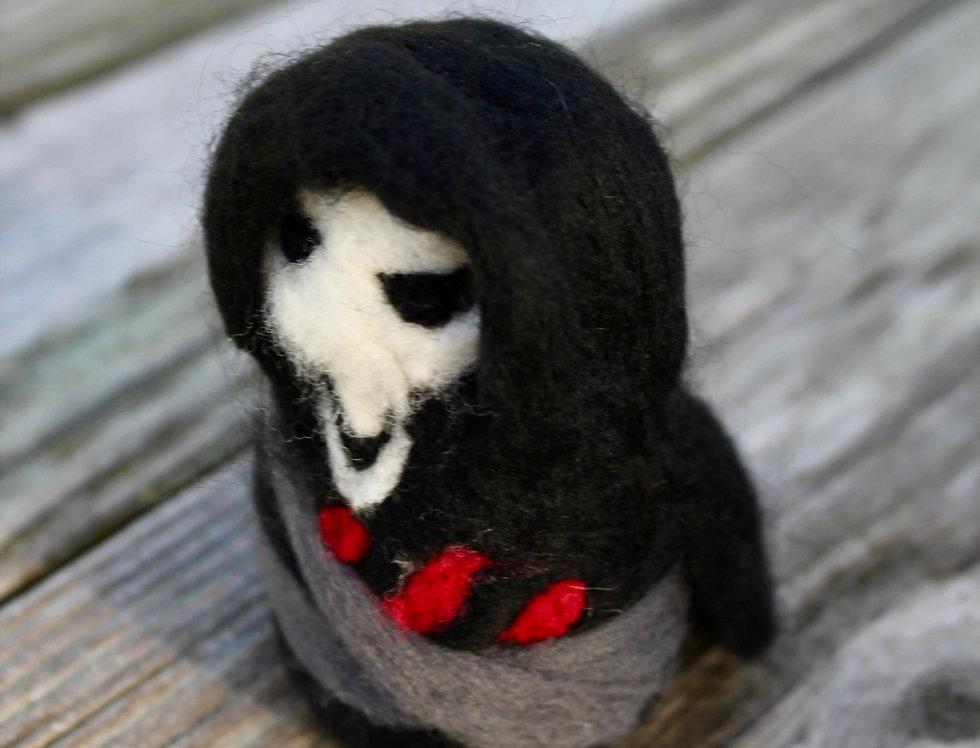 Felt Black Reaper Sculpture