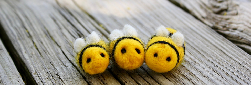 Felted Baby Bees (Set of 3)