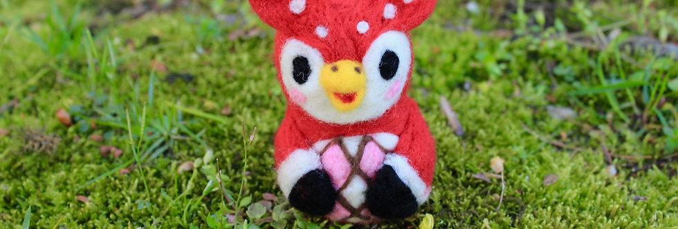 Felted Celestial Owl Villager