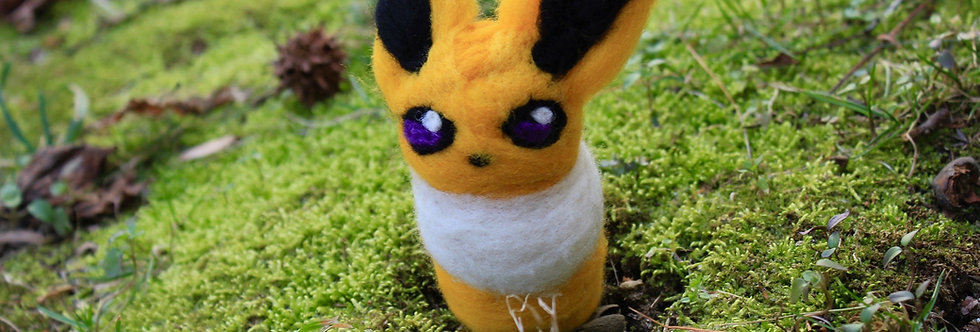 Felted Electric Fox Creature