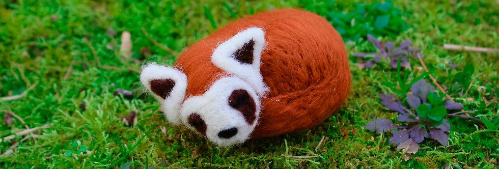 Felted Sleeping Red Ferret