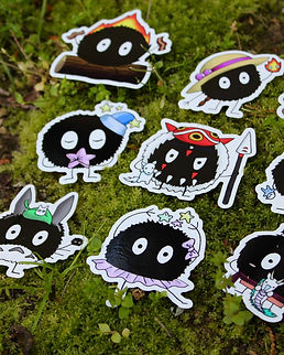 Vinyl Soot Sprite Stickers
