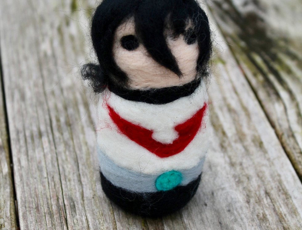 Felted Red Space Boy