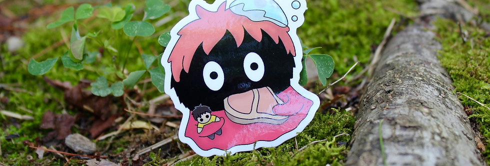 "Soot Sprite Ham Mermaid 2.5"" Vinyl Sticker"